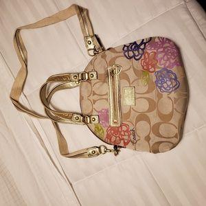 Coach Poppy Flower purse